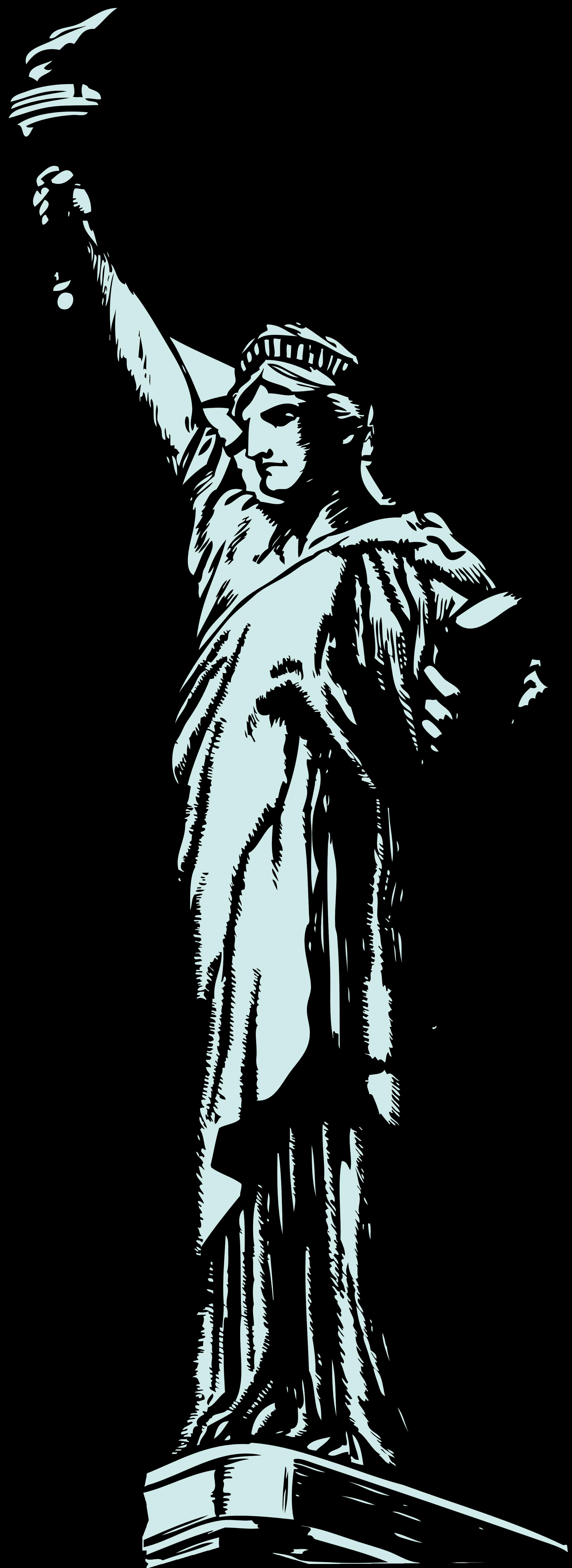 2427x6646 Statue Clipart Statue Liberty
