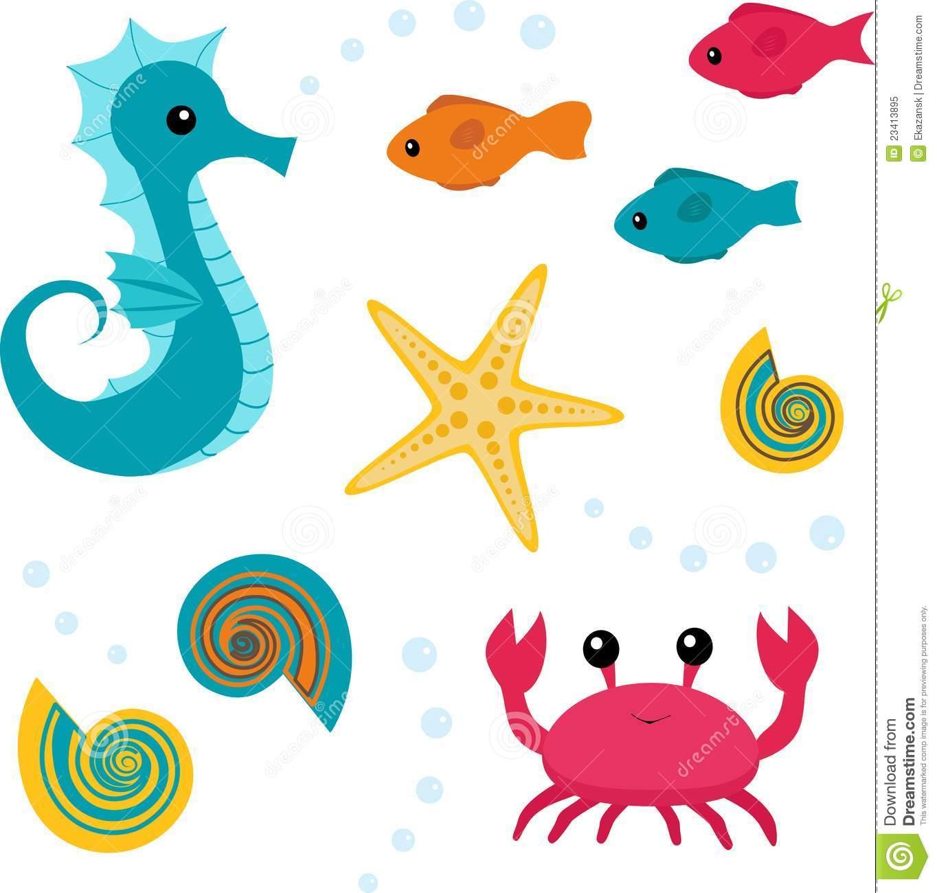 1364x1300 Cute Sea Animals Clipart