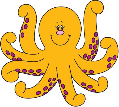 417x375 Octopus Clipart Free