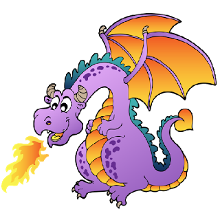 320x320 Dragon Clipart Free Funny Dragons With Flames Cartoon Clip Art
