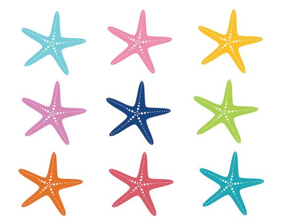 570x456 60% Off Sale Nautical Clipart Starfish Clip Art Sea Ocean Fish