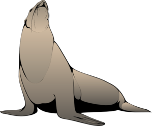 299x249 Seal With Raised Head Clip Art