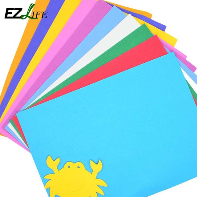 640x640 10pcslot Foam Paper Art 10 Colors A4 Fold Scrapbooking Thick
