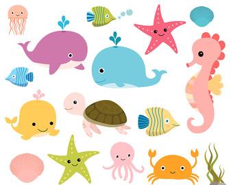 340x270 Ocean Animal Clipart Amp Look At Ocean Animal Clip Art Images
