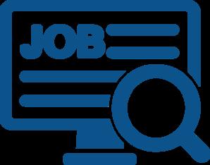 298x234 Job Search Blue Svg Clip Art
