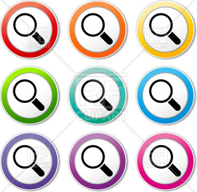 400x390 Search Icon With Magnifier Royalty Free Vector Clip Art Image
