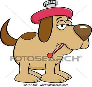 300x284 Sicknimal Clipart Cliprt Of Cartoon Sick Dog