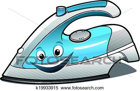 450x292 Iron Clipart Clipart Of Cheerful Cartoon Electric Iron K19933915