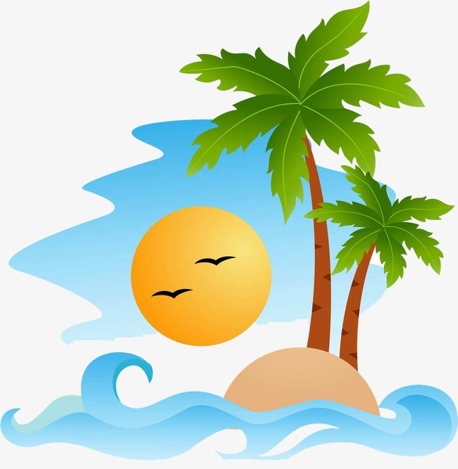 650x667 Coconut Tree, Seascape, Cartoon Png Image And Clipart For Free