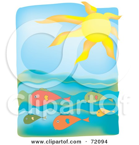 450x470 Royalty Free (Rf) Clipart Illustration Of A Seascape With A Gull