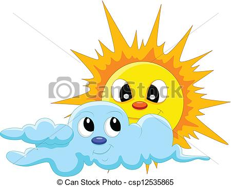 450x365 Sun And Cloud Clipart Vector Graphics. 37,387 Sun And Cloud Eps