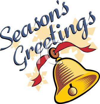 336x350 Seasons Greetings Christmas Bell