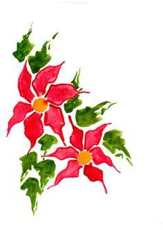 236x333 Handpainted Greeting Card Candle Holly Seasons Greetings