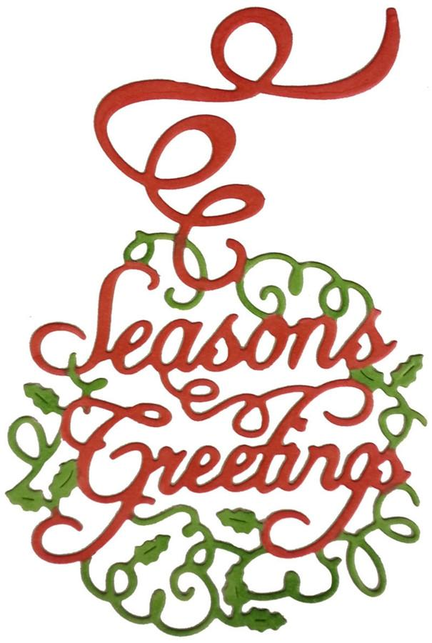 605x900 Seasons Greetings Ornament Die Cut By Cheery Lynn Designs B480