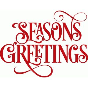 300x300 Swirly Seasons Greetings Silhouette Design, Silhouettes And Cricut