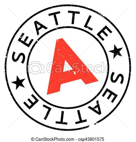 450x470 Seattle Stamp Rubber Grunge. Seattle Stamp. Grunge Design
