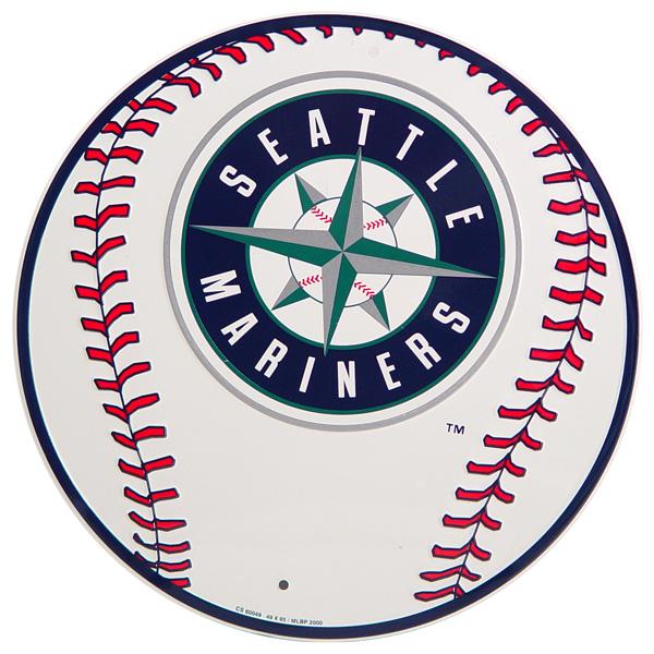 600x600 Seattle Mariners Baseball Logo Metal Sign Sports Team Fan Decor 12
