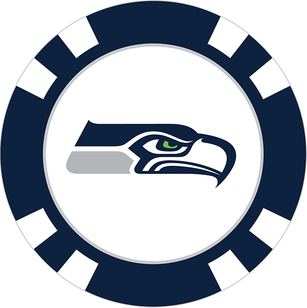 600x602 Seattle Seahawks Poker Chip Ball Marker