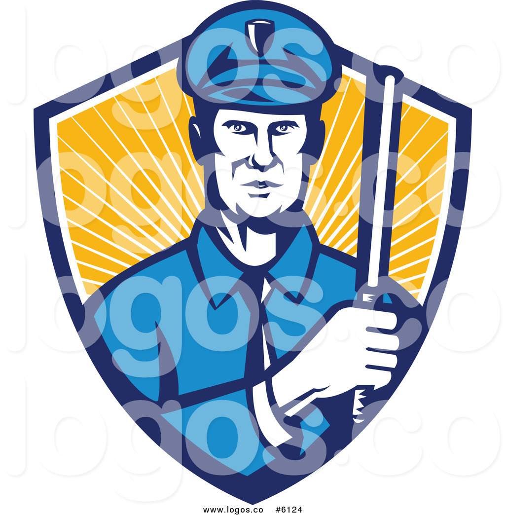 1024x1044 Royalty Free Cliprt Vector Logo Of Police Officer Holding