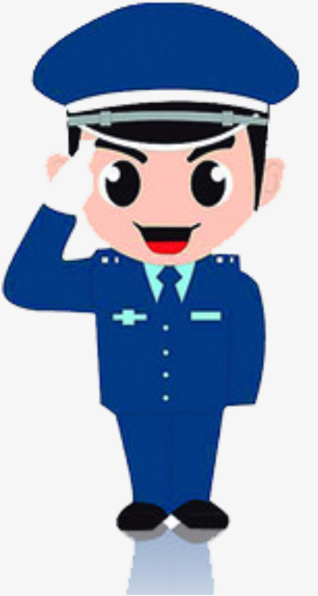 650x1217 Salute The Security, Salute, Cartoon, Security Officer Png