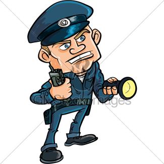 325x325 Security Guard Cartoon Gl Stock Images