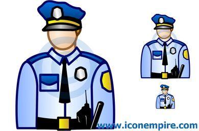 390x256 Fancy Clip Art Police Man