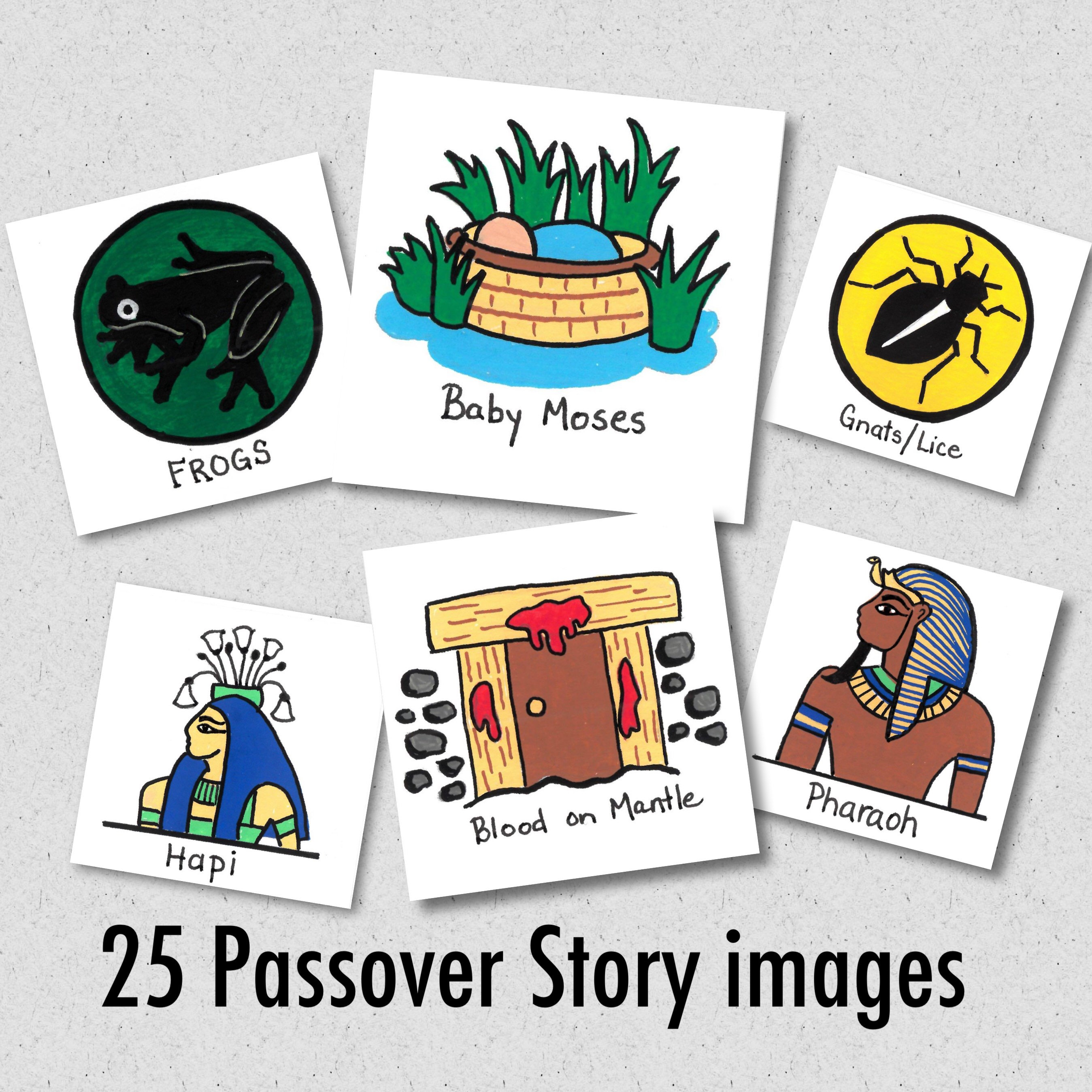 2697x2697 Passover Story Tiles, Passover Seder Meal Images