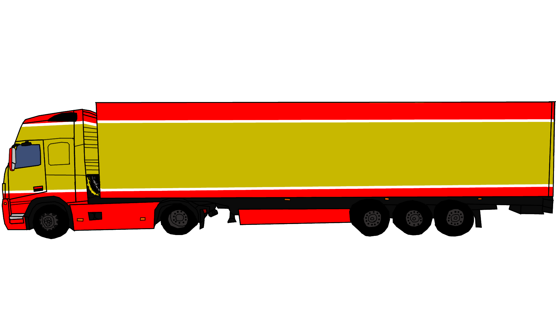 1920x1080 Collection Of Semi Truck Side View Clipart High Quality