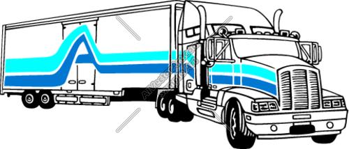 500x214 Semi Truck Silhouette Clipart