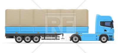 400x182 Truck Semi Trailer Royalty Free Vector Clip Art Image