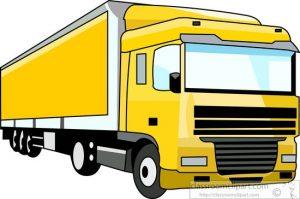 300x199 Tractor Trailer Clip Art Truck Clipart Yellow Semi Trailer Truck