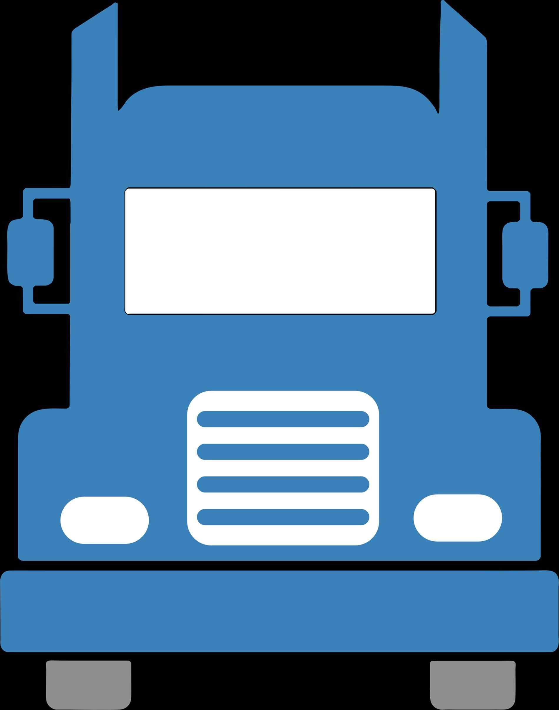 1899x2412 Free Semi Truck Front View Clipart S Download Clip Art