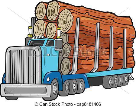 450x354 Logging Truck Clipart