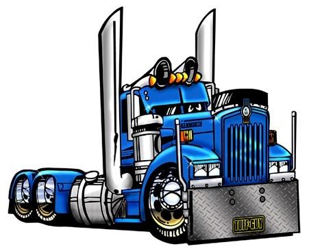 454x367 Semi Truck Clipart Free