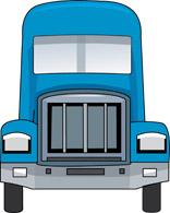 156x195 Semi Truck Front View Clipart