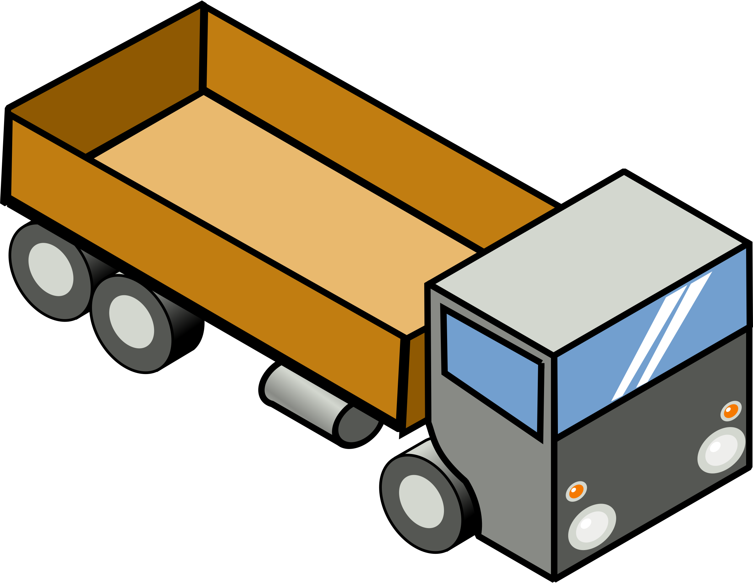 2400x1858 Truck Clip Art Images Black
