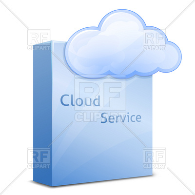 400x400 Cloud Software Service Royalty Free Vector Clip Art Image