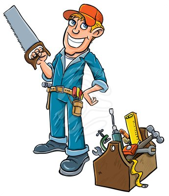 346x400 Pretty Looking Handyman Clipart