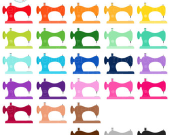 340x270 Sewing Clipart Set