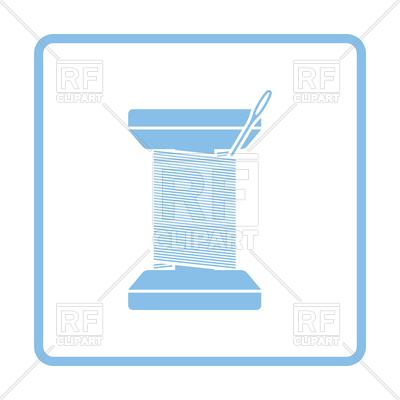 400x400 Sewing Reel With Thread Icon Royalty Free Vector Clip Art Image