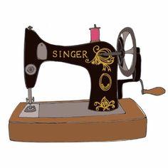 236x236 Public Domain! Vintage Sewing Machine Clipart Stencils