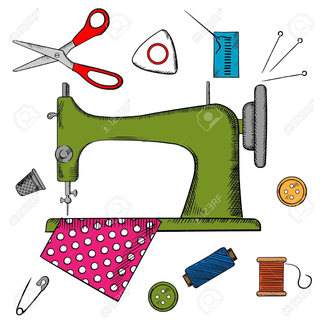 1300x1300 Sewing Machine Clipart Couture
