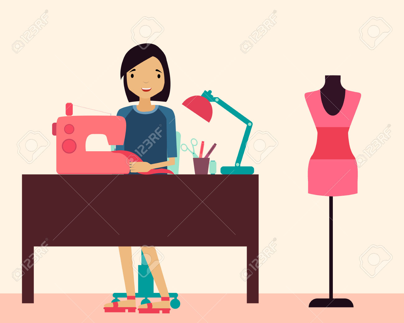 1300x1040 Sewing Machine Clipart Person Sewing
