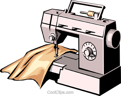 480x379 Sewing Machine Royalty Free Vector Clip Art Illustration Hous0201