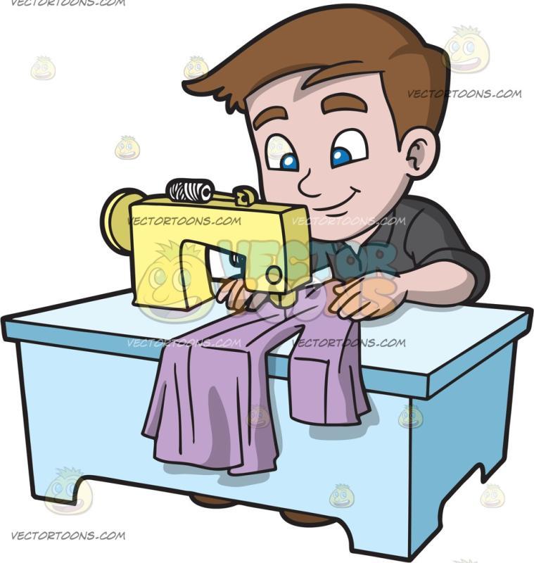 759x800 A Boy Sewing A Dress Shirt Cartoon Clipart Vector Toons