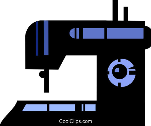 480x402 Sewing Machine Royalty Free Vector Clip Art Illustration Vc097671