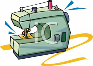 300x214 Clipart Picture Of A Green Sewing Machine