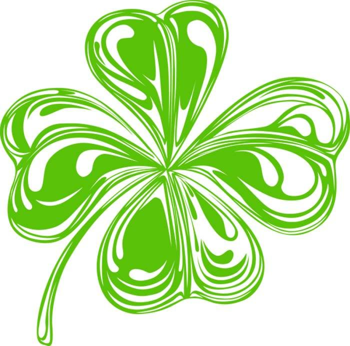700x693 Shamrock Clip Art Silhouette Clip Art And Kirigami