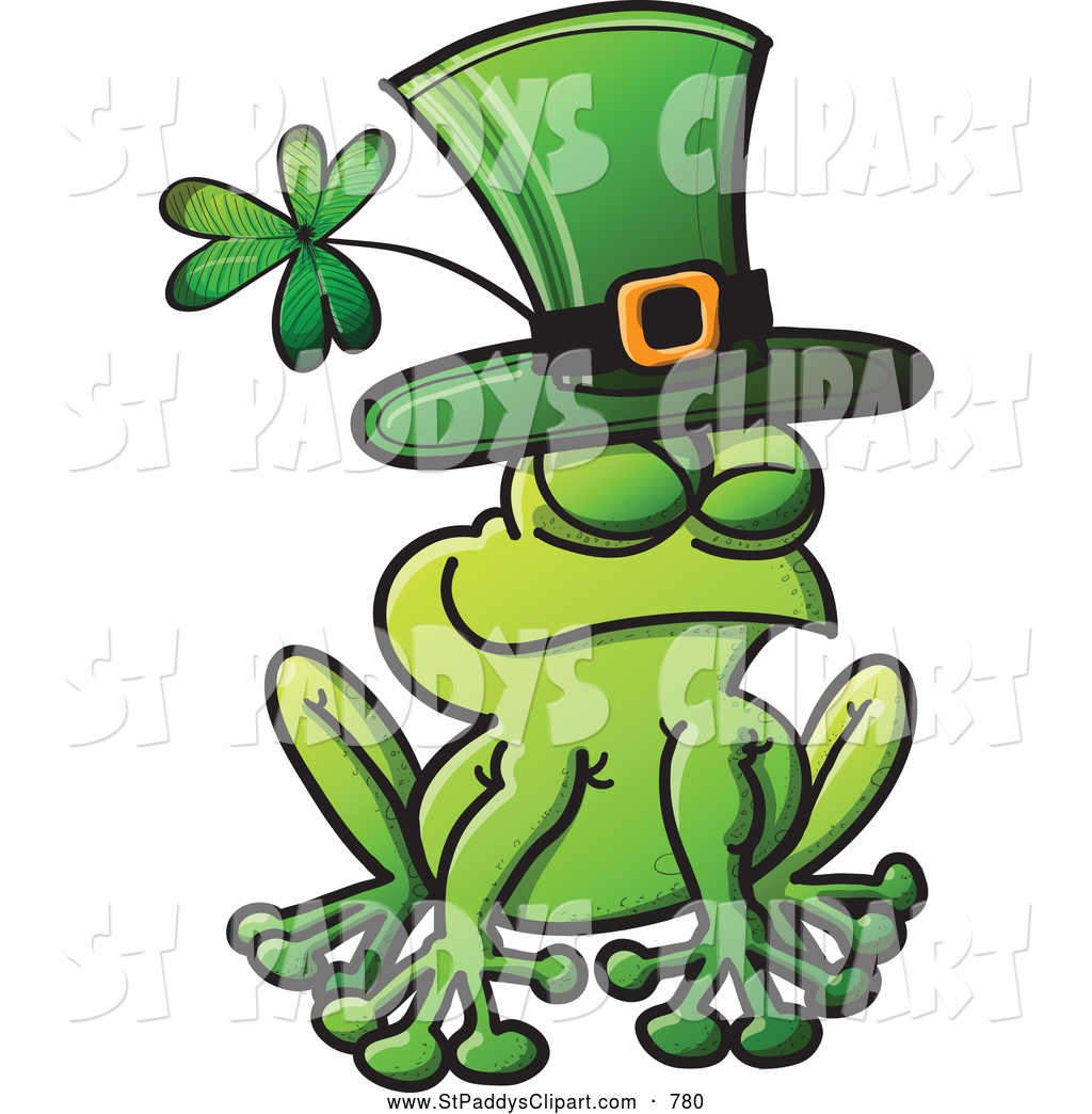 1024x1044 Vector Clip Art Of A Cute St Patricks Day Frog Wearing A Green Hat