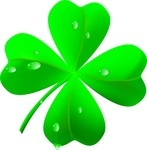 147x150 Four Leaf Clover Made Of Small Leaves Of Shamrock Royalty Free